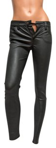 JOE'S Leather Forest Skinny Pants Green