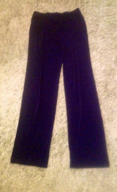 Lennie by Nina Leonard Print Polyester Spandex Pants Set Two Pieces Top Black and leopard