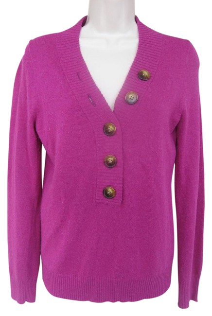 Item - Button Sweater/Viscose Wool Nylon Cashmere/Nice S Violet Sweater