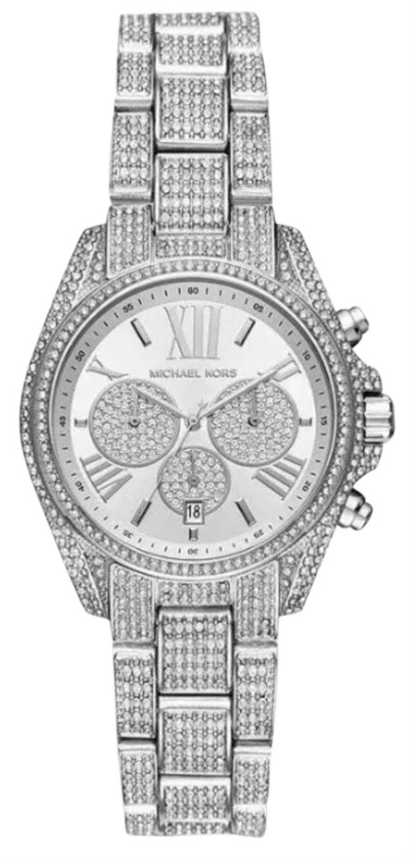44969f7ebb20 Michael Kors Michael Kors Mini Bradshaw Stainless Steel Chronograph Watch  Mk6454 Image 0 ...