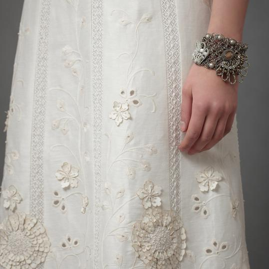 BHLDN Ivory Linen and Silk Greenhouse Gala Gown Casual Wedding Dress Size 2 (XS) Image 10