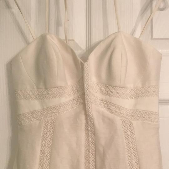 BHLDN Ivory Linen and Silk Greenhouse Gala Gown Casual Wedding Dress Size 2 (XS) Image 2
