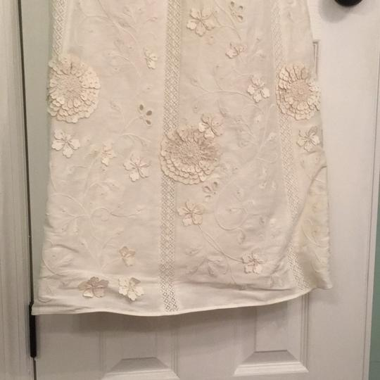 BHLDN Ivory Linen and Silk Greenhouse Gala Gown Casual Wedding Dress Size 2 (XS) Image 3