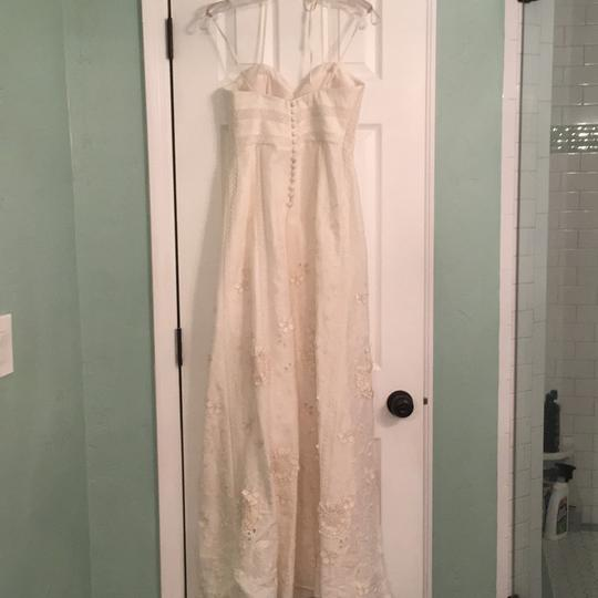 BHLDN Ivory Linen and Silk Greenhouse Gala Gown Casual Wedding Dress Size 2 (XS) Image 4