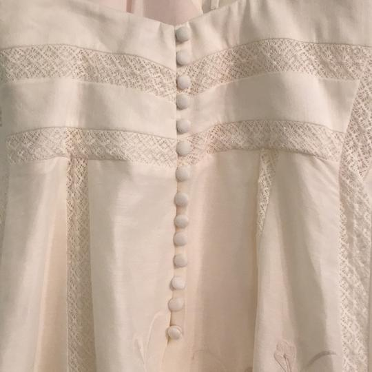 BHLDN Ivory Linen and Silk Greenhouse Gala Gown Casual Wedding Dress Size 2 (XS) Image 8