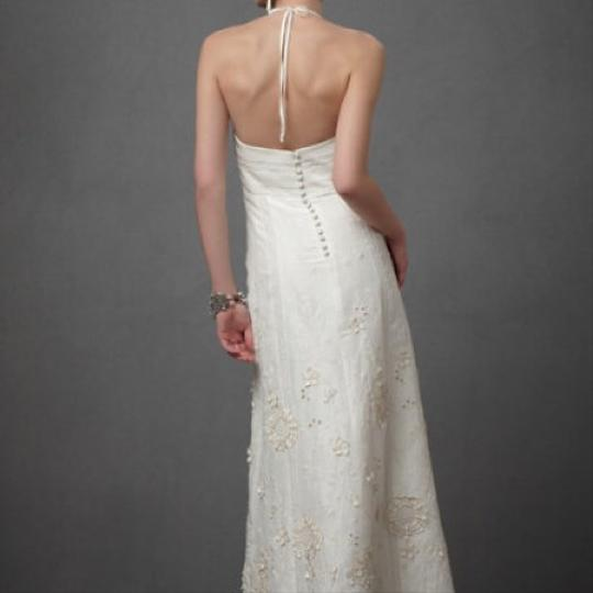 BHLDN Ivory Linen and Silk Greenhouse Gala Gown Casual Wedding Dress Size 2 (XS) Image 9