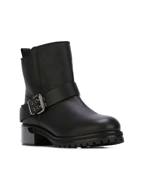 Item - Black Broadway Leather Ankle Boots/Booties Size US 7 Regular (M, B)