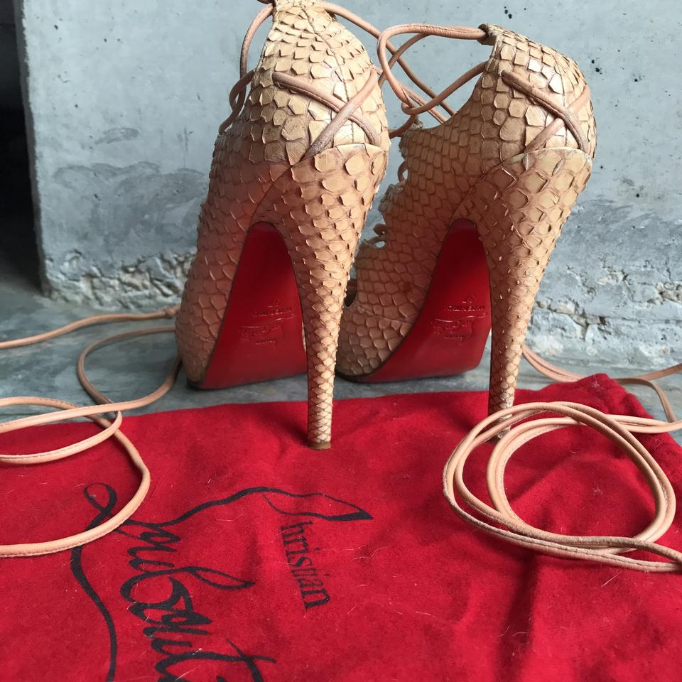 hot sales 5d742 29746 Nude Python Bloody Mary Pumps