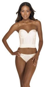 Dominique Dominique Backless Satin Longline Bra 6377 Ivory 38B