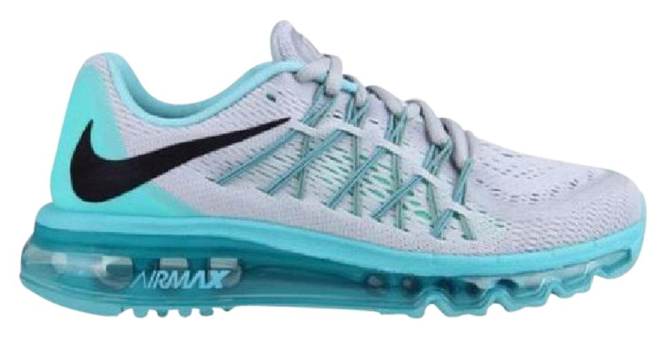 Nike 2015 Gray/Green/Aqua Womens Air Max 2015 Nike Sneakers 1d800d