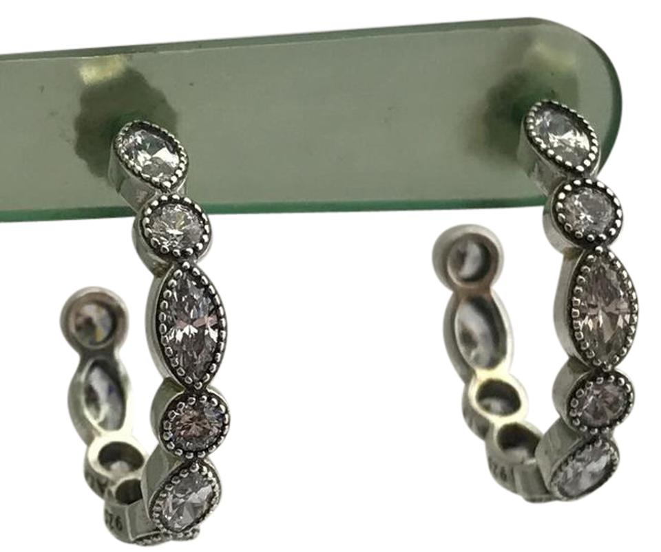f72cd6a7d PANDORA Pandora Alluring Brilliant Marquis Earrings, 290724CZ, Sterling  Silver Image 0 ...