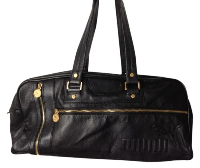 Item - Black with Gold Accents Vinyl Weekend/Travel Bag