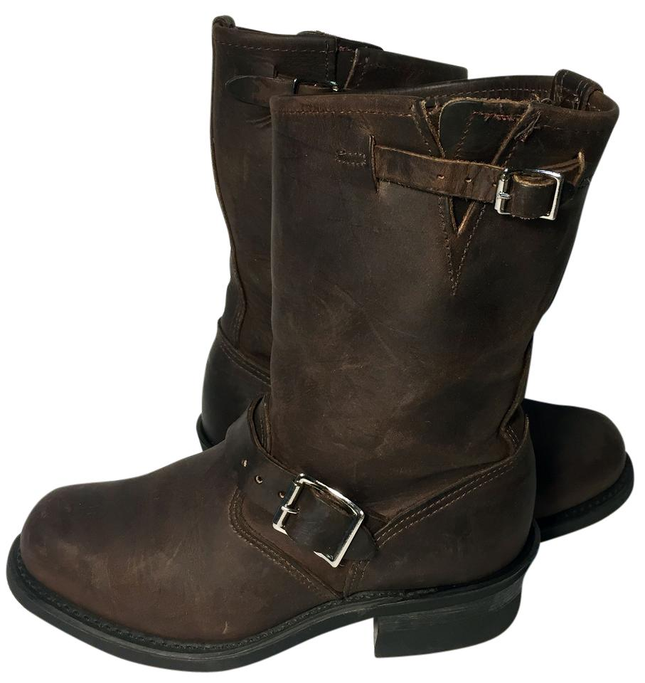 50281136c4609 Frye Brown 77400 Engineer Leather Motorcycle Women's Boots/Booties Size US  7 Regular (M, B) 29% off retail