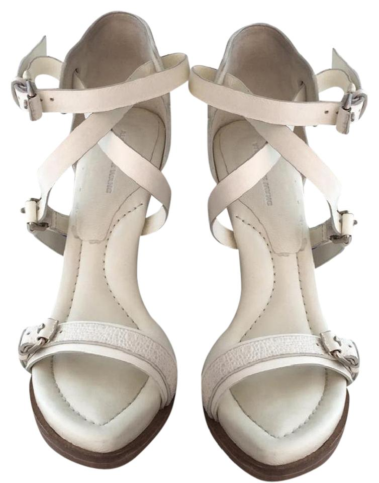 Alexander Wang Ivory Stella Strappy Strappy Strappy Buckle Sandals ec5420