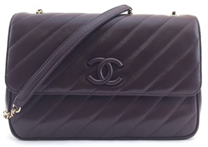 Chanel Cc Quilted Flap Lambskin Cross Body Bag