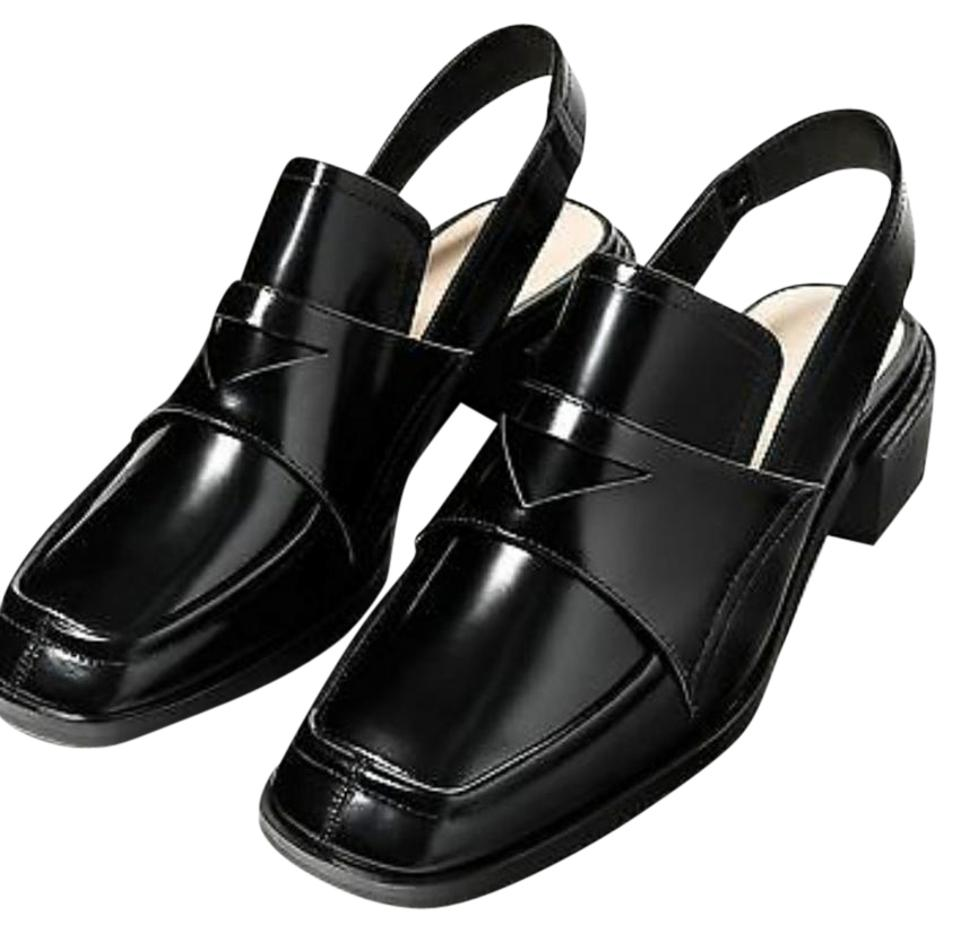 0d430be6851 Zara Black New with Tags Slingback Patent Leather Loafers Flats. Size  US 9  Regular (M ...
