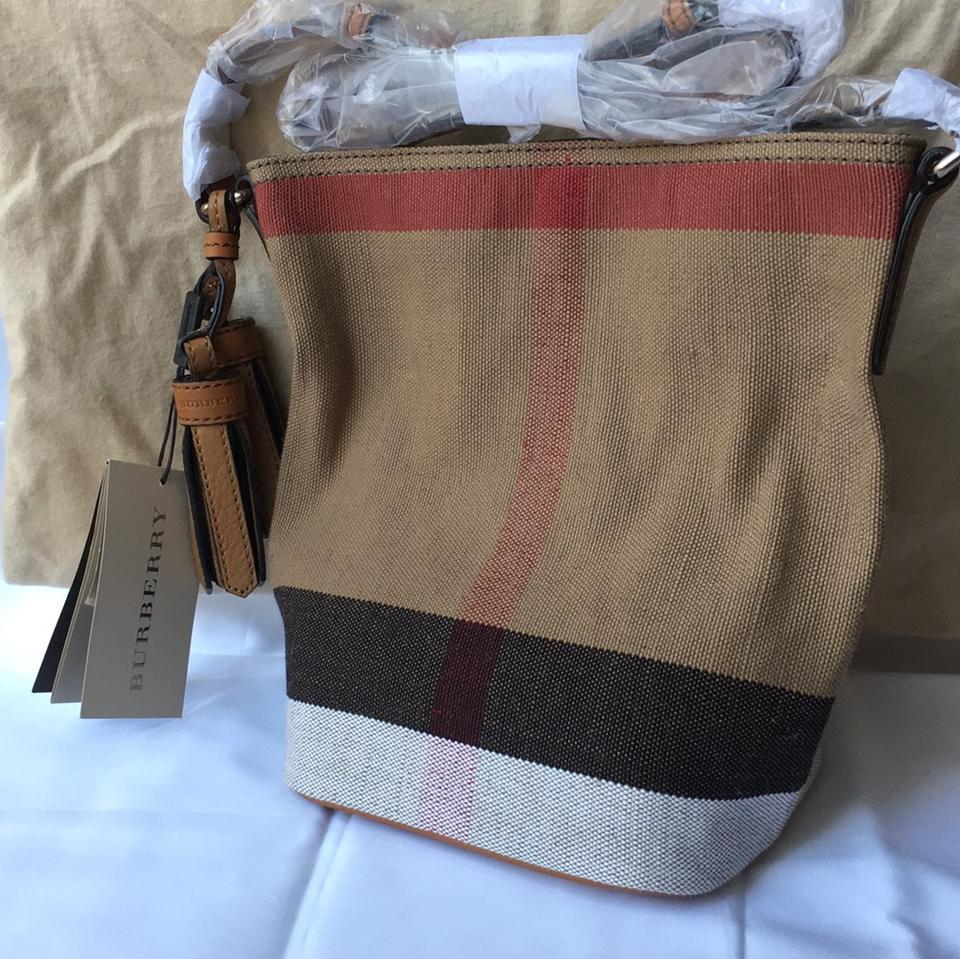 c0f7fc02d91d Burberry Brit Mini Susanna Crossbody Saddle Brown Canvas Check Shoulder Bag  - Tradesy