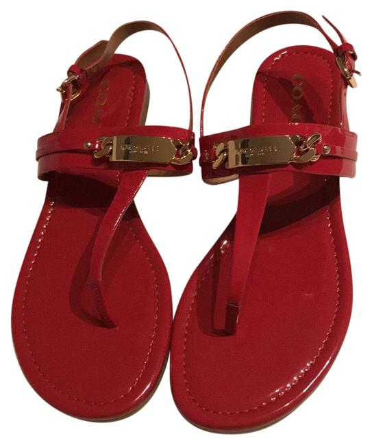 Item - Red Ruby Women's A7799 Caterine Patent Thongs Flat Sandals Size US 8 Regular (M, B)