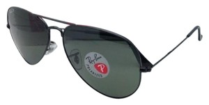 Ray-Ban Polarized RAY-BAN Sunglasses RB 3025 Large Metal 002/58 58-14 Black