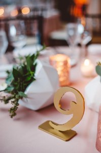 Beaucoup Gold Table Numbers (1-18) Reception Decoration