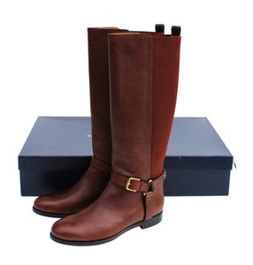 Ralph Lauren Collection Riding Vachetta Leather Tall Brown Boots