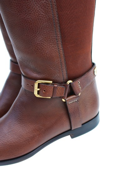 Ralph Lauren Collection Riding Vachetta Leather Tall Brown Boots Image 2