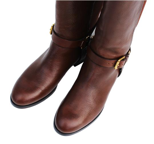 Ralph Lauren Collection Riding Vachetta Leather Tall Brown Boots Image 3