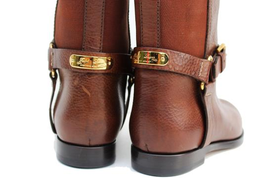 Ralph Lauren Collection Riding Vachetta Leather Tall Brown Boots Image 4