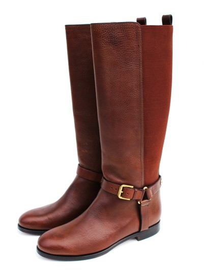 Ralph Lauren Collection Riding Vachetta Leather Tall Brown Boots Image 5