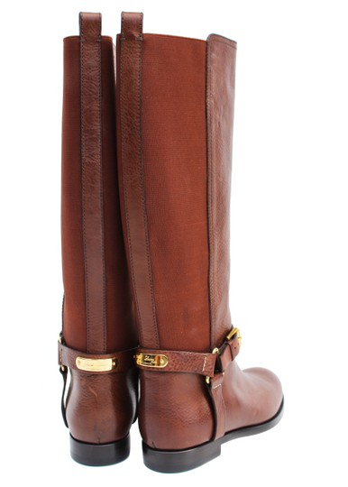 Ralph Lauren Collection Riding Vachetta Leather Tall Brown Boots Image 6