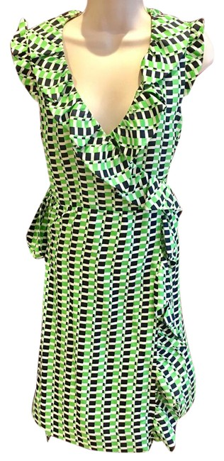 Item - Green White and Black Short Casual Dress Size 6 (S)