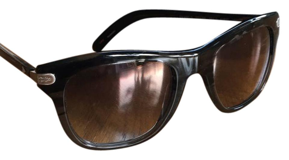 c6b5f9c61279 Oliver Peoples Black and Gray 5227-s 25th Anniversary Polarized Sunglasses