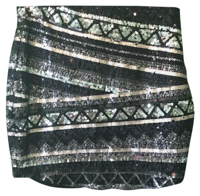 Item - Grey Sequins Skirt Size 6 (S, 28)
