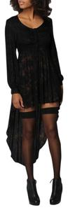shakuhachi short dress black and brown Tie Dye High Low Up Down on Tradesy