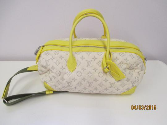 Louis Vuitton Limited Edition & White Satchel in silver and yellow