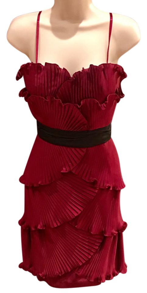 Max and Cleo Burgundy Short Cocktail Dress Size 8 (M) - Tradesy