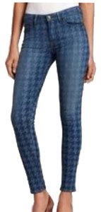 Hudson Jeans New Houndstooth Denim Print Lightwash Nottinghamprint Nottingham Skinny Jeans-Light Wash