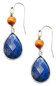 J. Jill lapis and tigers-eye drop earring