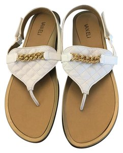 Vaneli Leather Wenda Patent Leather Leather white Sandals