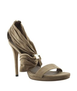 Gucci Suede Tan Sandals