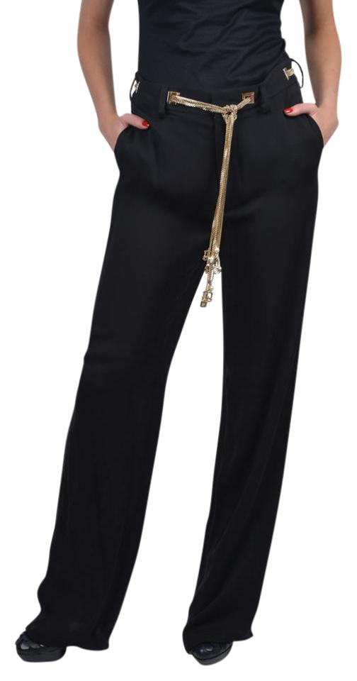 Dsquared Black Silk Chain Belted Dress Pants Size 0 Xs 25 Tradesy