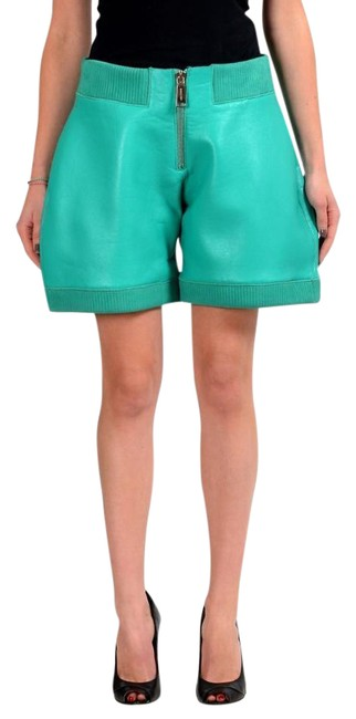 Item - Green Leather Women's Casual Shorts Size 2 (XS, 26)