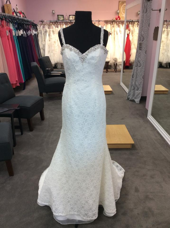 Mori Lee Ivory Lace and 6774 Destination Wedding Dress Size 8 (M ...