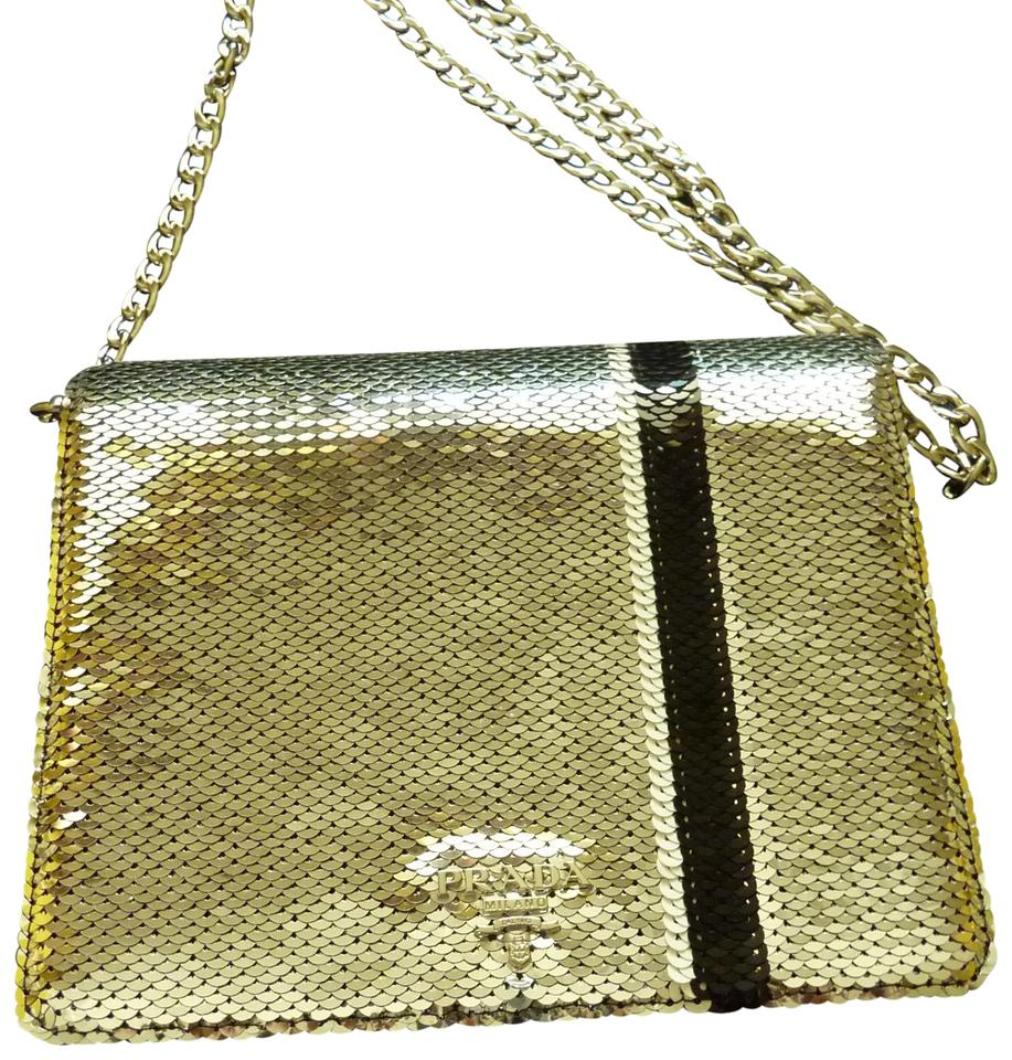 c6c5267aacb8 Prada Sequin Logo Italian Cross Body Bag Image 0 ...