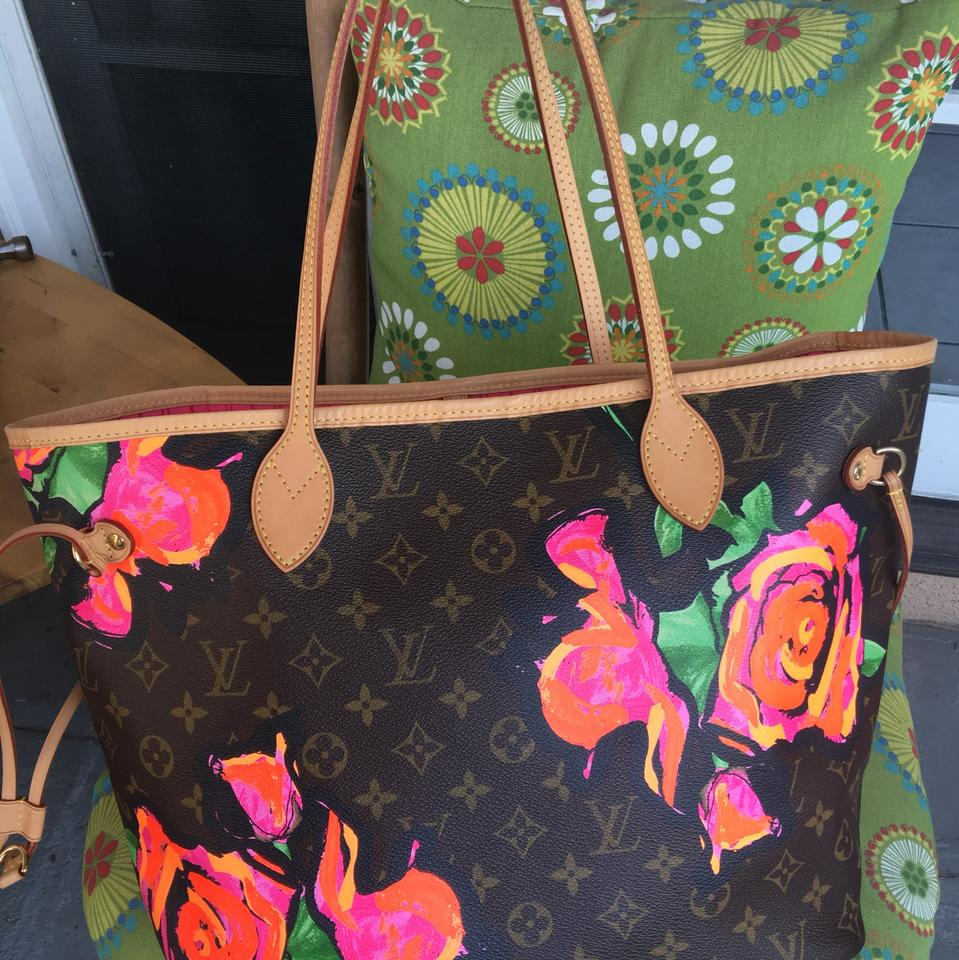 Louis Vuitton Neverfull Mm Stephen Sprouse Roses Brown  Pink Canvas ... 170da9e3ce5ec