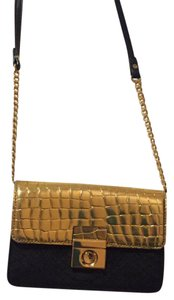 MILLY Gold Cross Body Bag