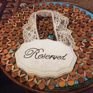 Reserved Signs Aisle Runner