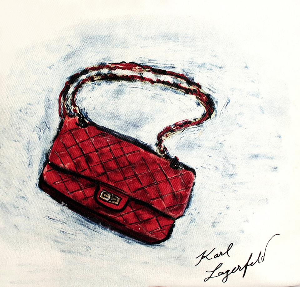 bfce6143ae25 Chanel Mobile Art Limited Edition Karl Lagerfeld White Caviar ...
