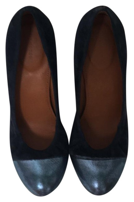 Item - Navy Blue Wedges Size US 8 Regular (M, B)