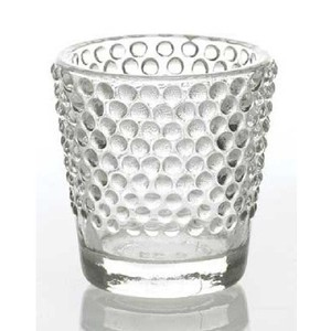48 Clear Beaded Votives